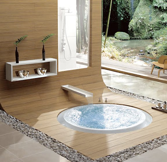 floor bathtub