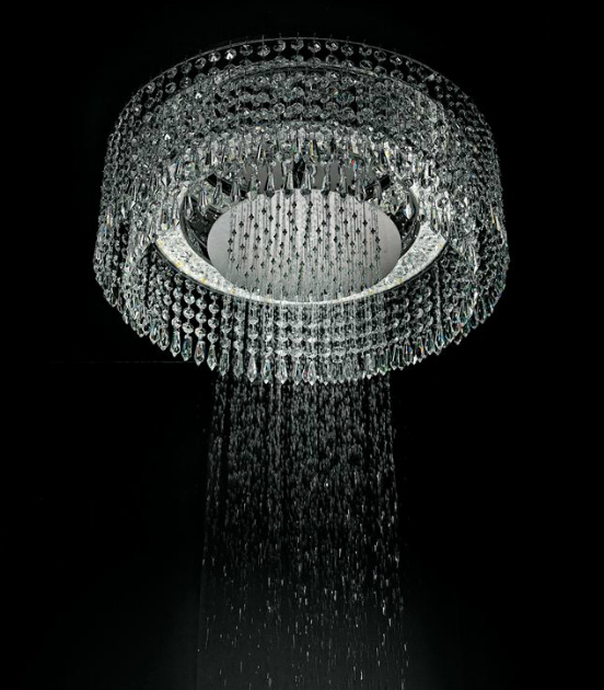 small chandelier shower head